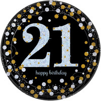 Letterbanner Happy 21th Birthday