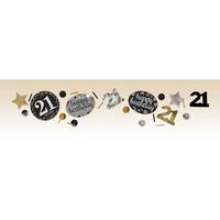 Servetten 21 Sparkling Celebration Silver&Black - 16 st - 33x33cm