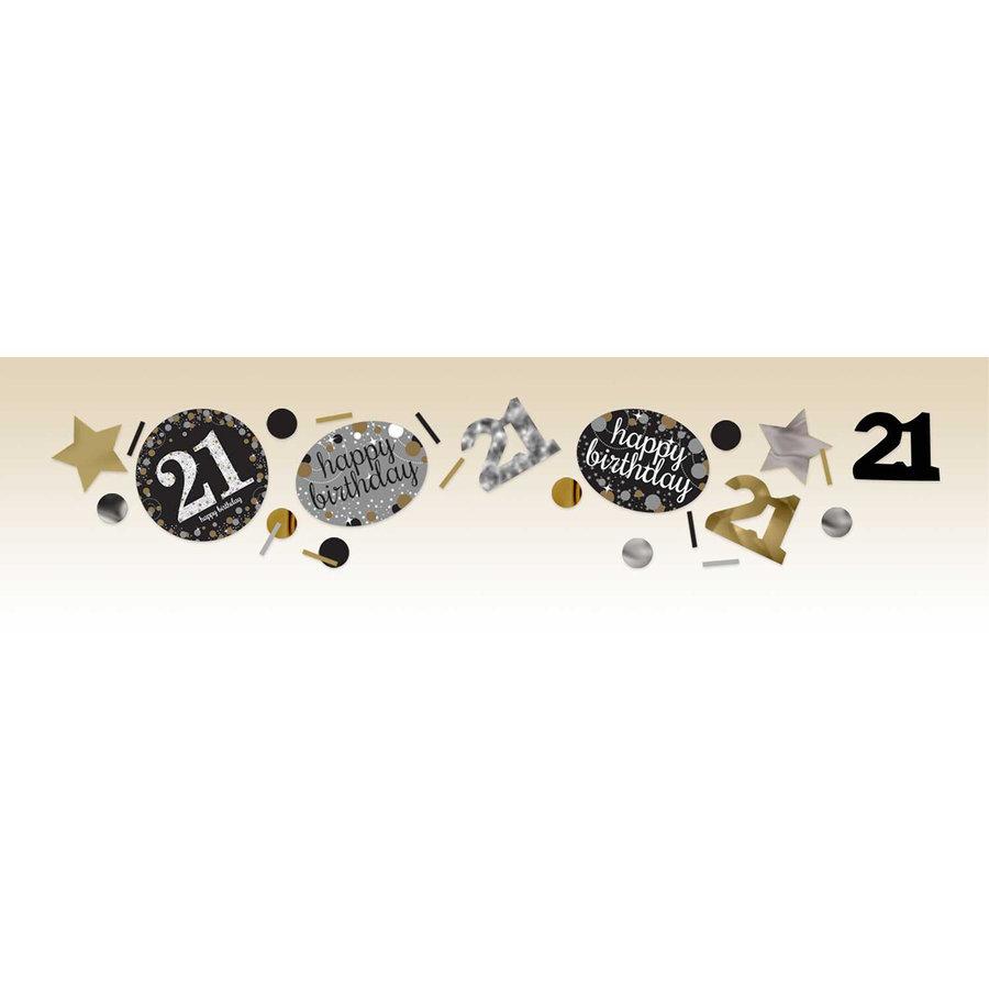 Confetti 21 Sparkling Celebration Silver&Black-1