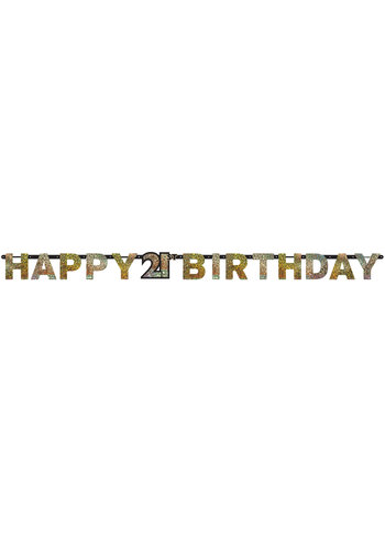 Letterbanner Happy 21th Birthday