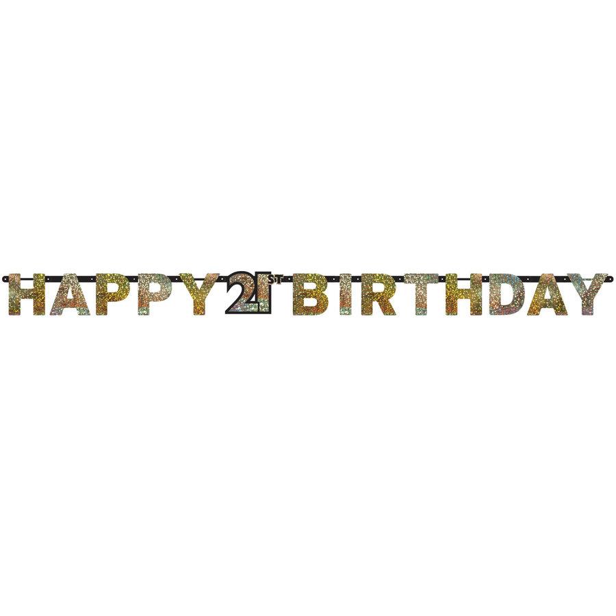 Letterbanner Happy 21th Birthday-1