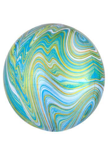 Orbz Marbel Groen/Blauw - 38 x 40cm