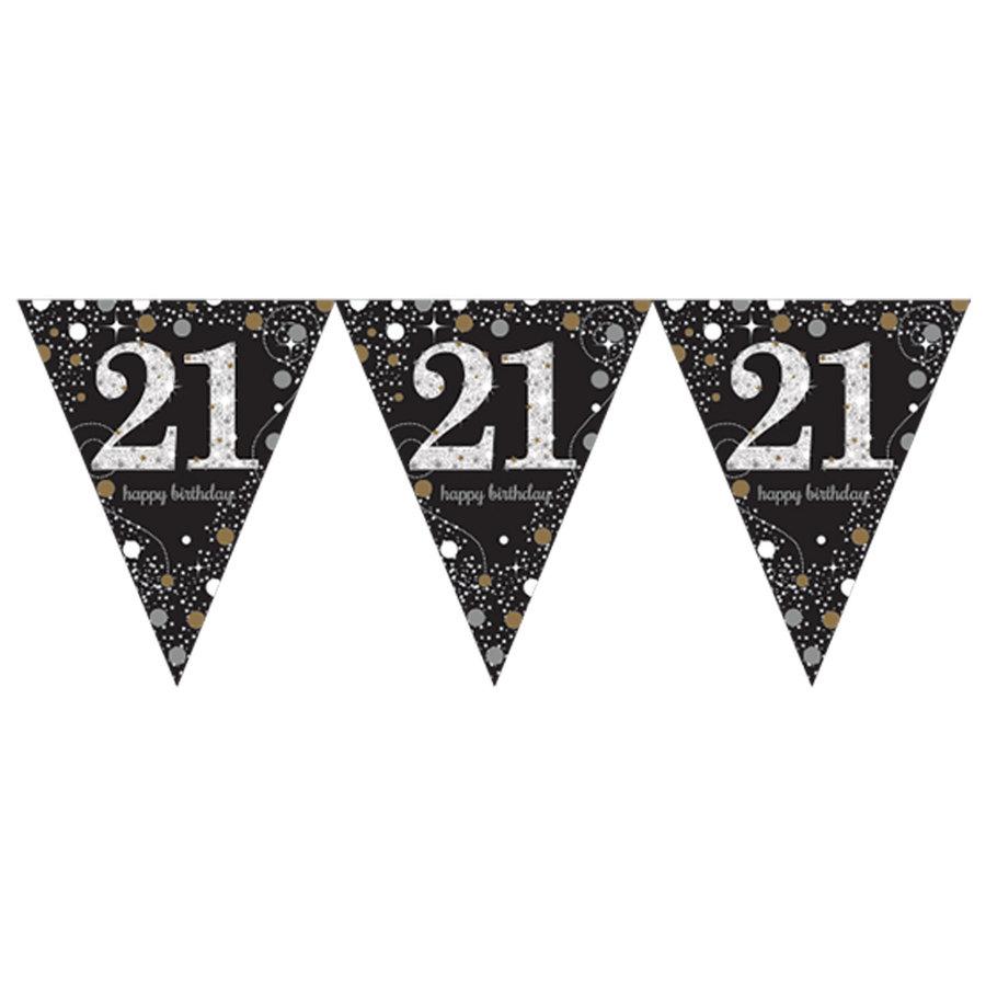 Vlaggenlijn 21 Sparkling Celebration Silver&Black-1