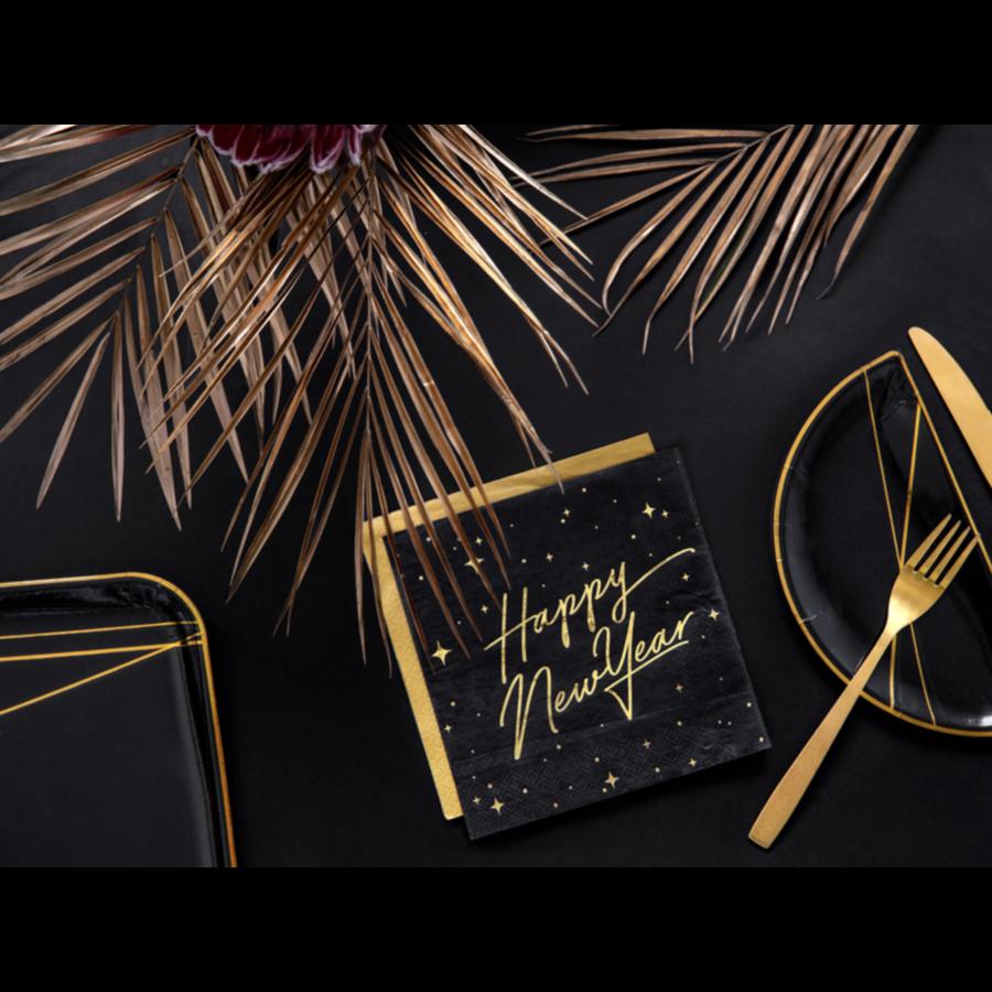 Servetten Happy New Year-1