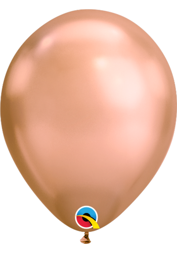 Heliumballon Rosé Gold Chrome (28cm)