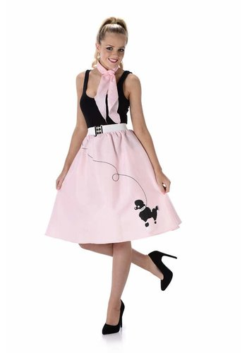 Light Pink Poodle Skirt & Necktie