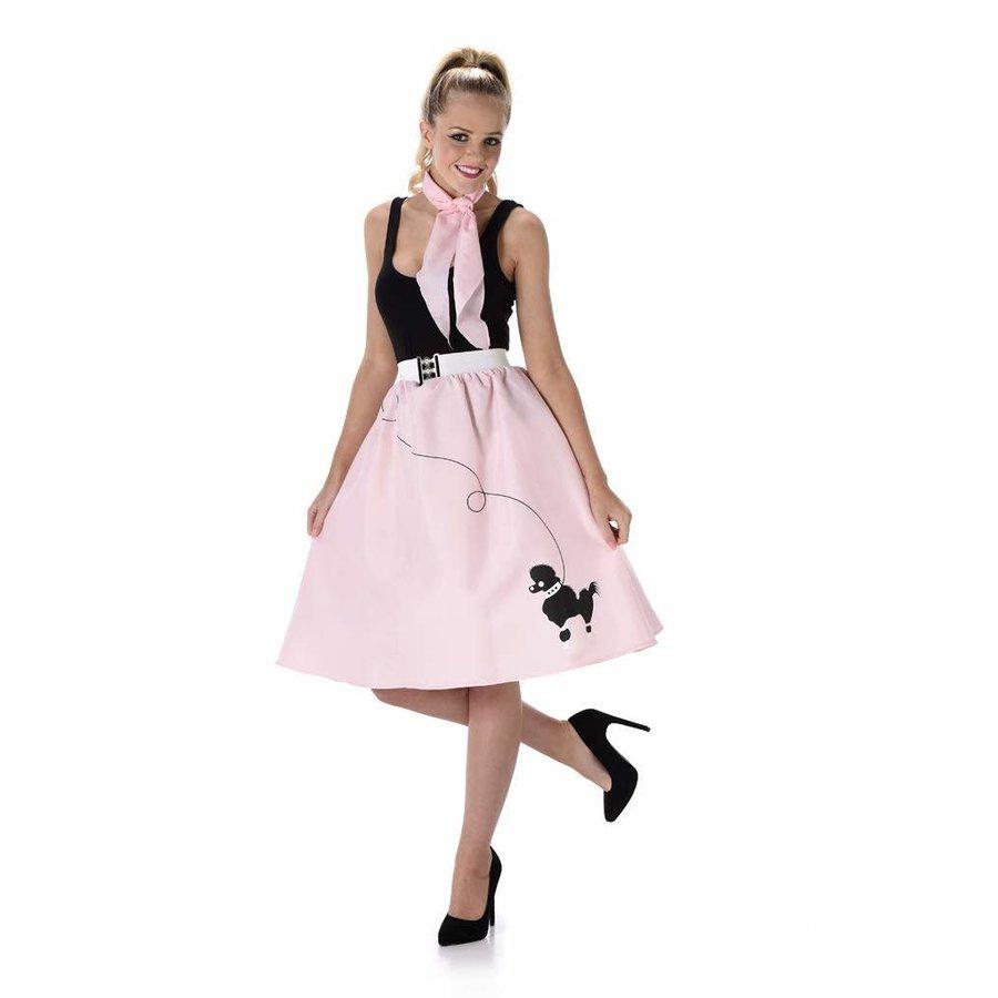 Light Pink Poodle Skirt & Necktie-1