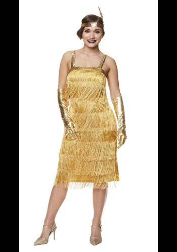 Flapper Dress Goud