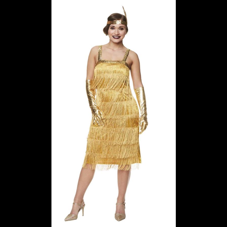 Flapper Dress Goud-1