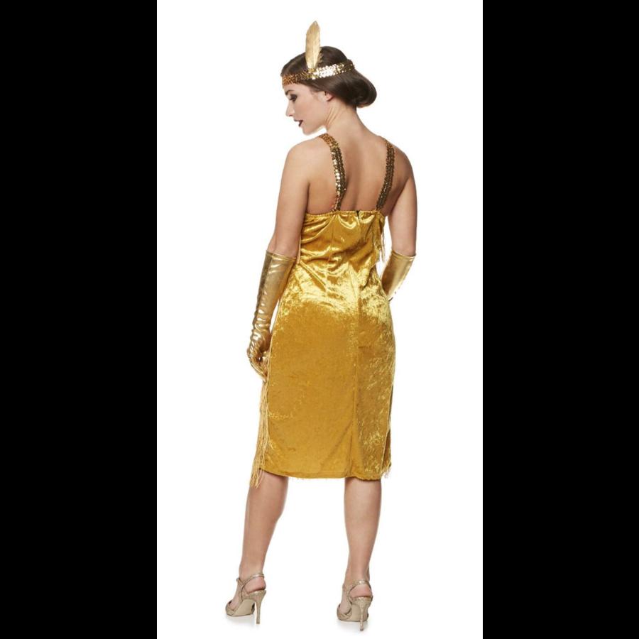 Flapper Dress Goud-3