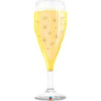 Folieballon Champagneglas - 99cm