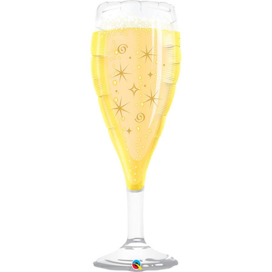 Folieballon Champagneglas - 99cm-1