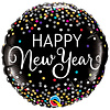 Qualatex Folieballon Happy New Year Confetti - 45cm