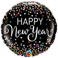 Folieballon Happy New Year Confetti - 45cm