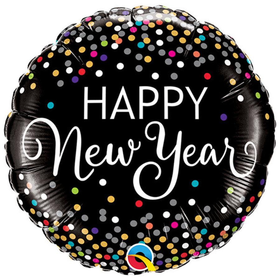 Folieballon Happy New Year Confetti - 45cm-1