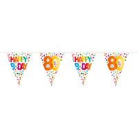 Vlaggenlijn Happy Birthday Dots 80