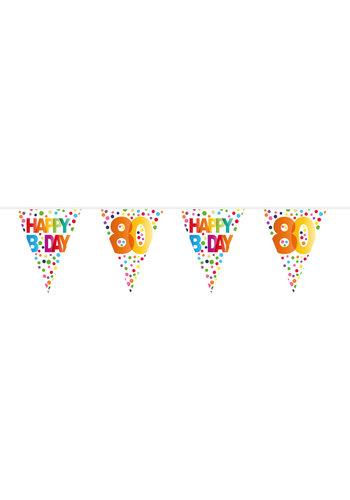 Vlaggenlijn Happy Birthday Dots 80 - 10 meter