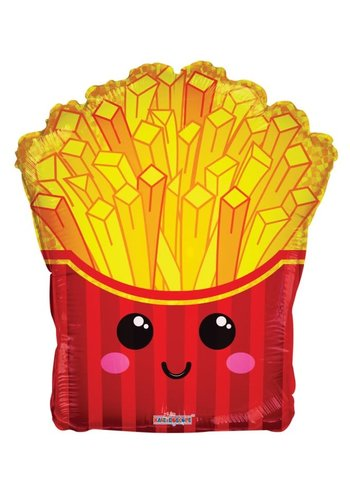 Folieballon Happy Fries - 46cm