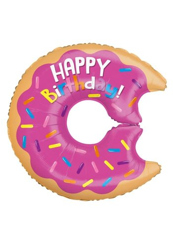 Folieballon Birthday Donut - 71 cm
