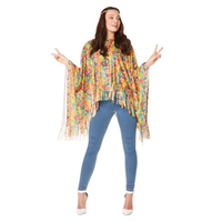 thumb-70's Hippie poncho - One Size-1