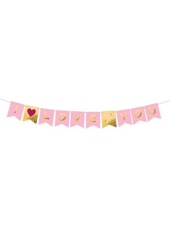 I Love You Banner Valentijnsdag