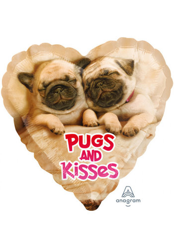 Folieballon Pugs & Kisses
