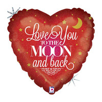 Folieballon Holographic Love You To The Moon And Back