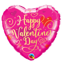 Folieballon Hart Happy Valentine's Day
