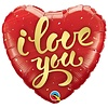 Folieballon I Love You Gold Script - 45cm