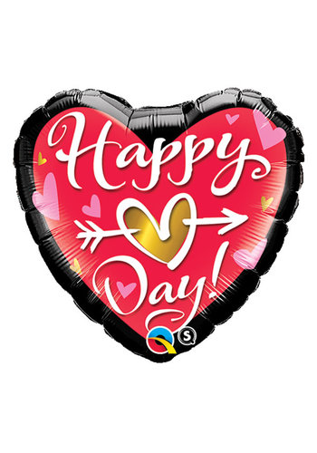 Folieballon Happy Hart Day - 45cm