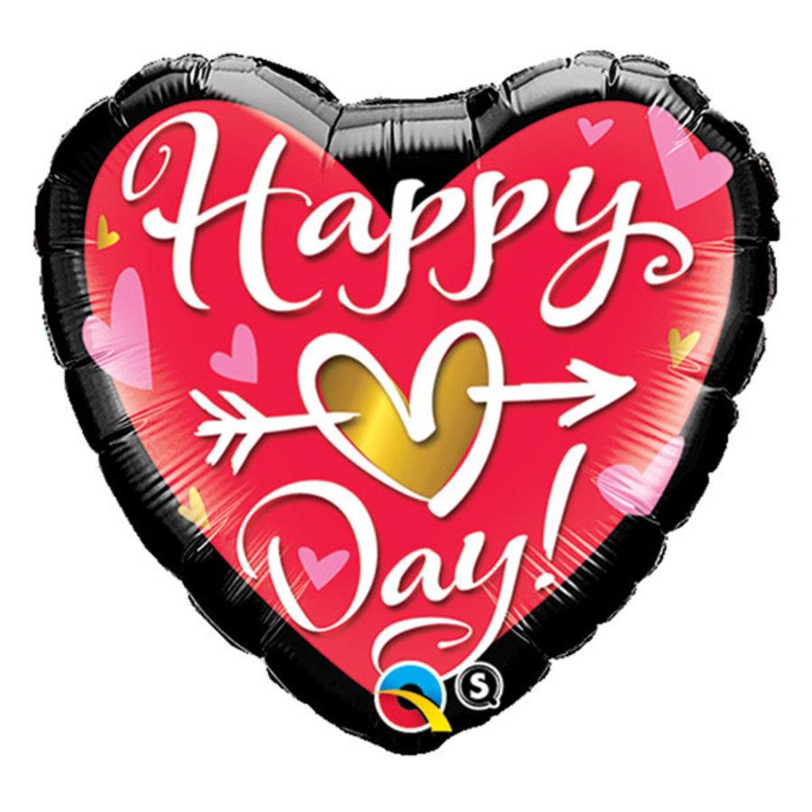 Folieballon Happy Hart Day-1