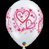 Ballonnen Pattern Hearts - 28cm - 6 stuks