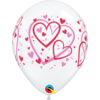 Qualatex Ballonnen Pattern Hearts