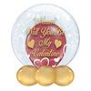 "Bedrukte Ballon - ""Naam"" Will You Be My Valentine"