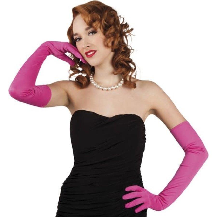 Handschoenen opera Los Angeles - hot pink-1