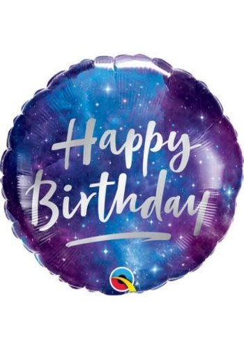 Folieballon Happy Birthday Galaxy