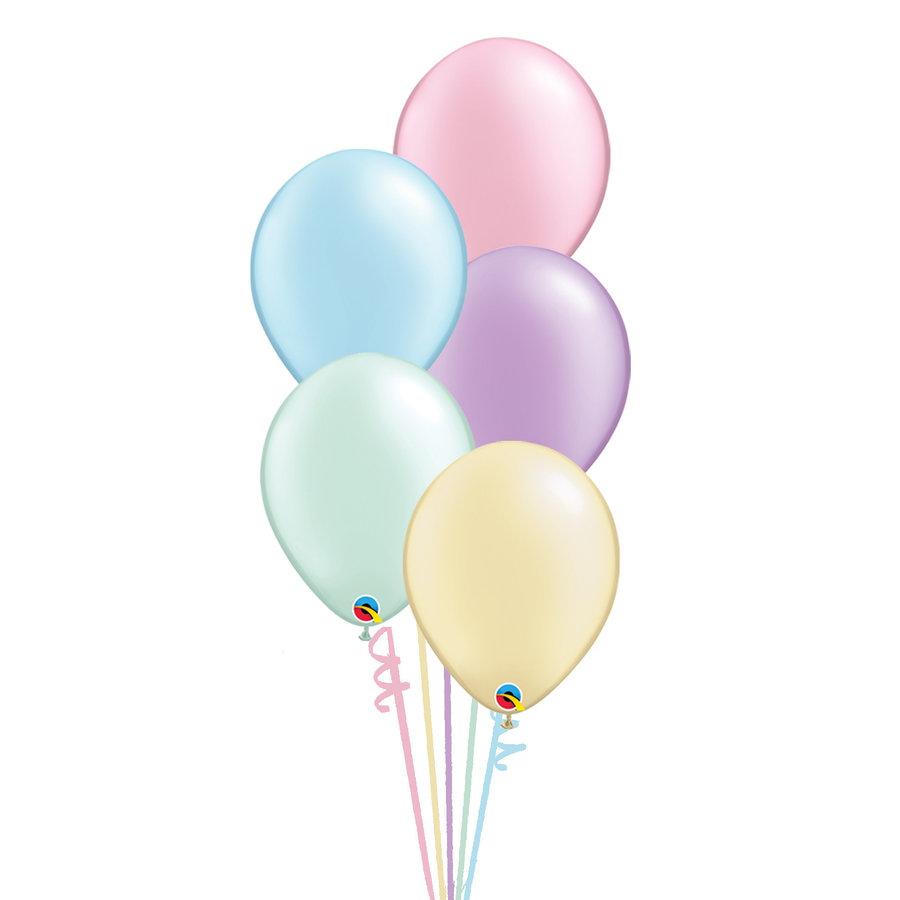 Staander Pastel - 5 Heliumballonnen-1