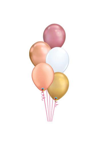 Staander Chrome Chique - 5 Heliumballonnen