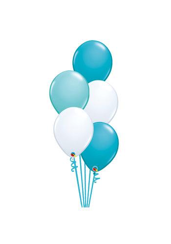 Staander Ibiza - 5 Heliumballonnen
