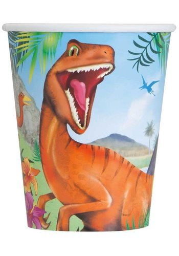 Bekertjes Dinosaurus - 266ml - 8 st