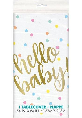Tafelkleed Hello Baby - 137x213cm