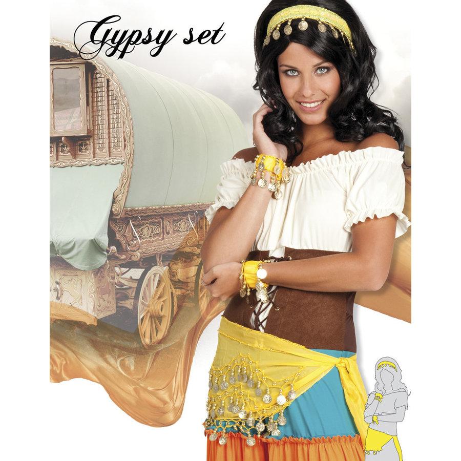 Set Gypsy - hoofdband, armbanden & ceintuur-1