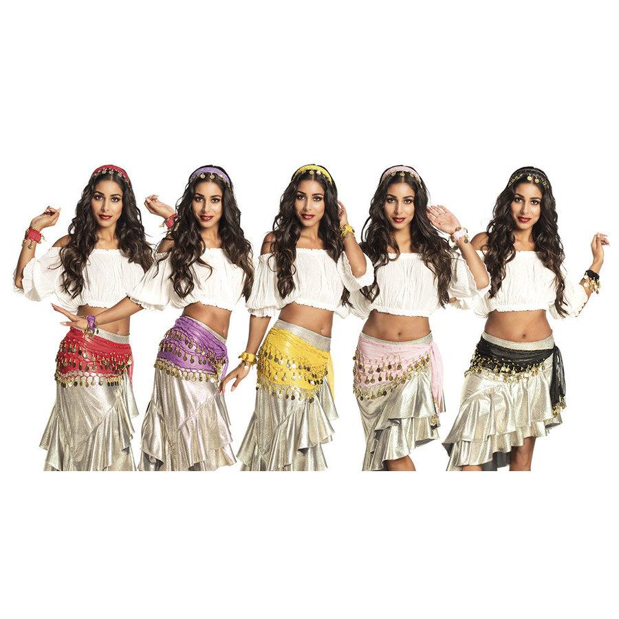 Set Gypsy - hoofdband, armbanden & ceintuur-2