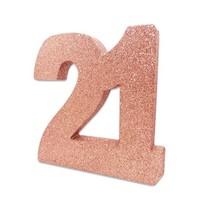 Tafeldecoratie 21 Glitter Rosé Gold