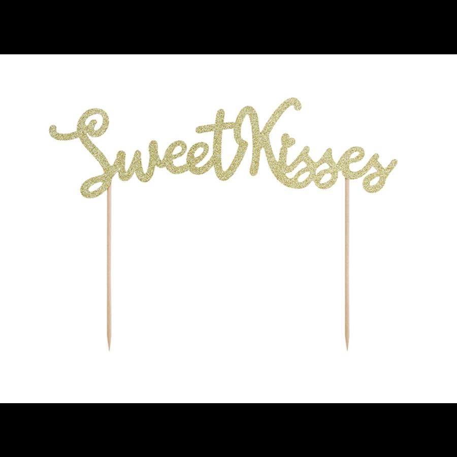 Taart topper Sweet Love - Sweet Kisses-2