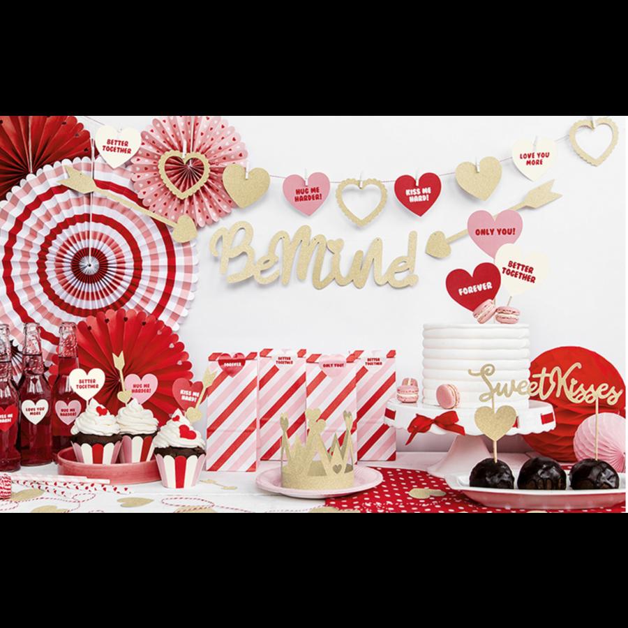 Taart topper Sweet Love - Sweet Kisses-3