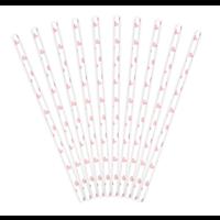 Papieren Rietjes Hartjes - 19,5cm - 10st