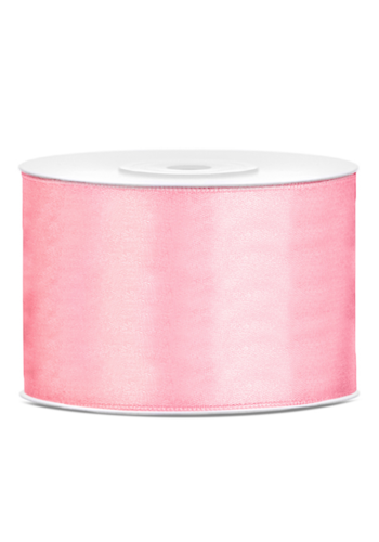 Satijn Lint Licht Roze - 50 mm x 25 mtr