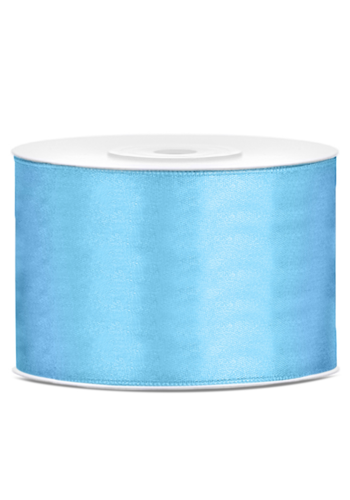 Satijn Lint Licht Blauw - 50 mm x 25 mtr
