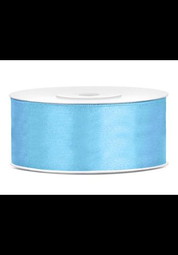 Satijnen Lint Licht Blauw - 25 mm x 25 mtr
